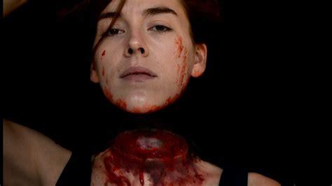 makeup tutorial girl slams head decapitated girl halloween makeup tutorial youtube