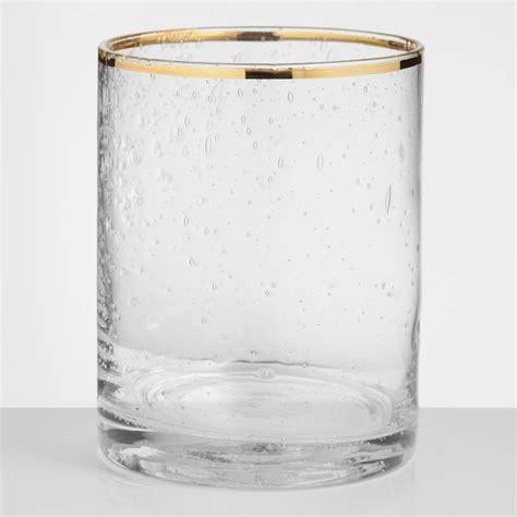 Glass Barware by Gold Rimmed Glass Dof Glasses Set Of 4 World Market