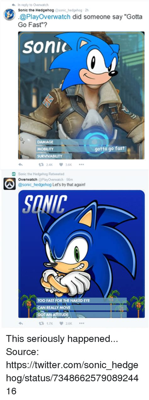 Sonic The Hedgehog Meme - search overwatch characters memes on me me