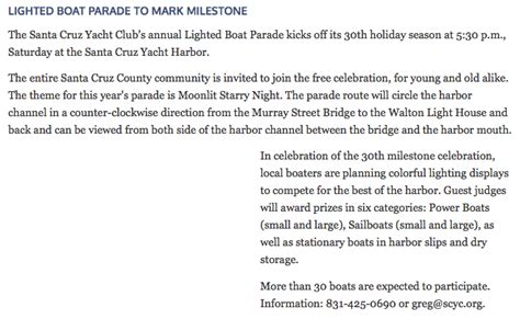 santa cruz lighted boat parade 2017 cruising the santa cruz yacht club