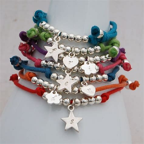 Handmade Childrens Jewellery - personalised friendship bracelets indivijewels