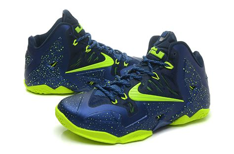 neon blue basketball shoes navy blue and lime green nike shoes style guru fashion