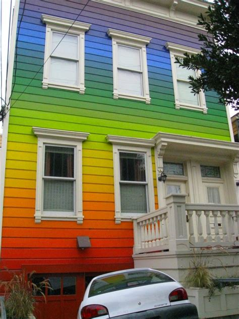 painted houses can t decide on the color to paint your house so use them all icraftgifts