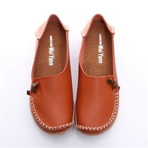 bn womens leather comfort casual walking bowed flat shoes