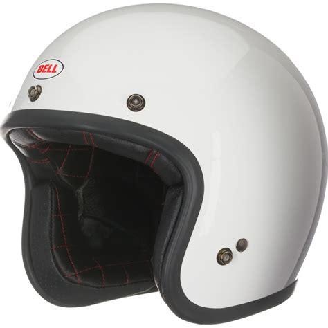 open face motocross helmet bell custom 500 white motorcycle helmet scooter jet