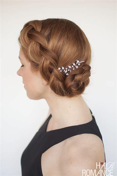 Try this DIY braided updo for your next formal event (or your wedding!)   Hair Romance   us211
