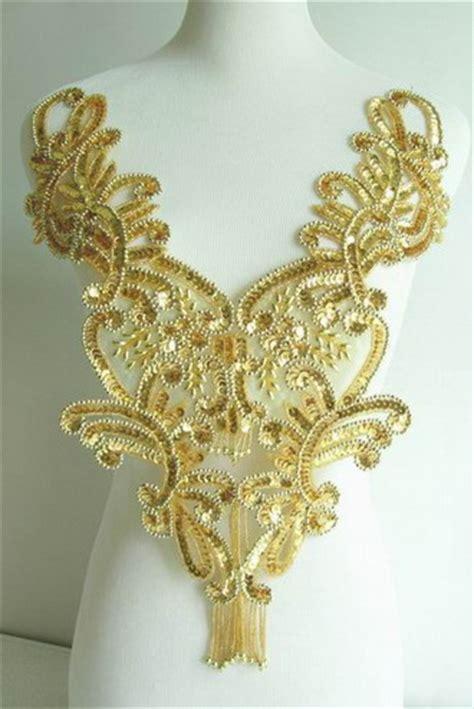 gold applique sequin applique sequin bead applique bead applique