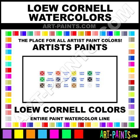 cornell colors loew cornell artist watercolor paint colors loew cornell
