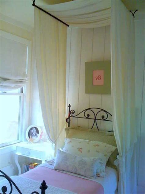 Diy Canopy Bed With Curtain Rods 20 Magical Diy Bed Canopy Ideas Will Make You Sleep