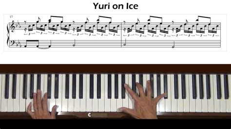 tutorial main keyboard yuri on ice main theme piano tutorial youtube