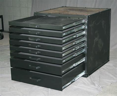 vintage flat file cabinet combine 9 industrial furniture vintage metal flat file