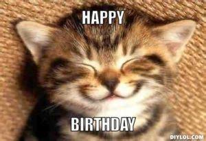 Cute Birthday Meme - best happy birthday cat meme
