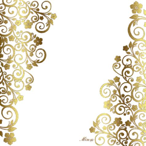 golden pattern png deco png floral gold deco png floral gold picmix