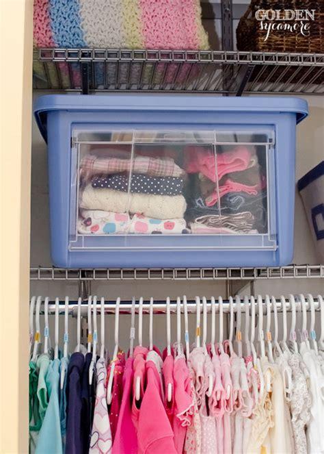 Nursery Closet Organization Systems by Nursery Progress Closet Organization The Golden Sycamore