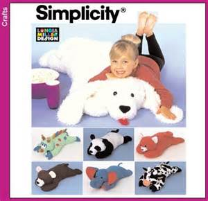 cuddly stuffed animal floor pillow pattern by