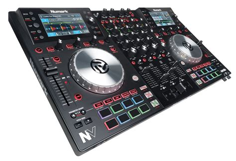 dj deck controller numark nv dual display dj controller for serato pssl