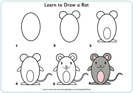 Patung Pajangan Burung Hantu Belajar Pintar Sekolah learn to draw a rat