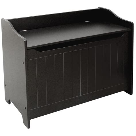 bench chest storage catskill black storage chest bench shop your way online