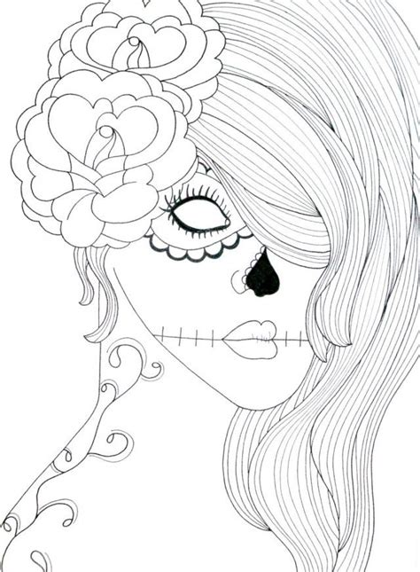 coloring pages sugar skulls sugar skull coloring pages coloring home