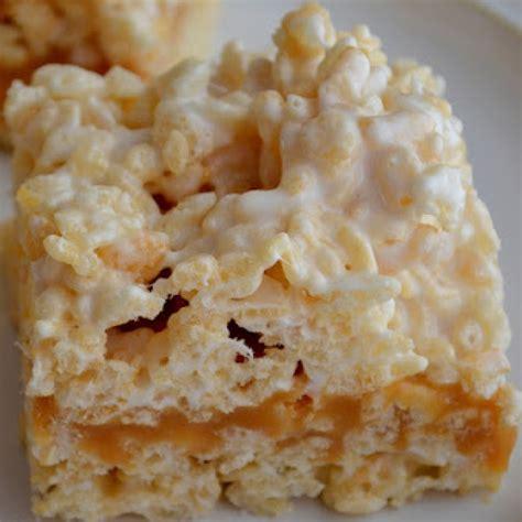 caramel rice krispies bars recipe