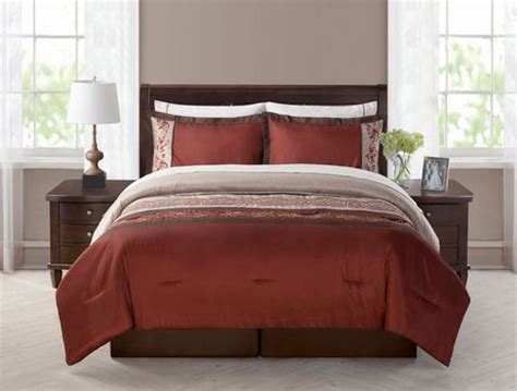 walmart king size bed in a bag morocco 8pc bed in a bag king burgundy walmart ca
