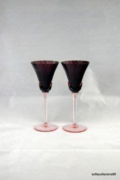 mikasa bicchieri weston watermelon glass depression pink green cocktail