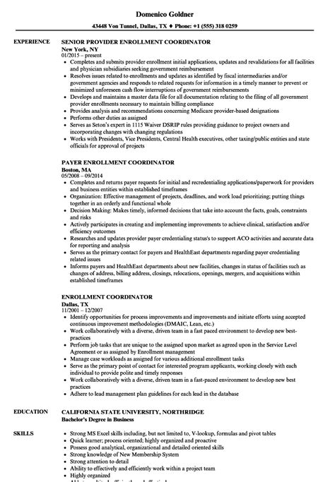 Admissions Coordinator Resume by College Admissions Coordinator Resume Sle Pictures