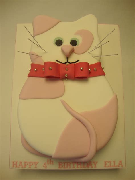 shaped pink cat cake celebration cakes cakeology