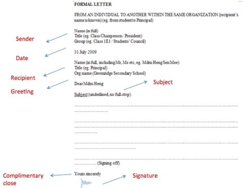 email format n level formal letter format singapore o levels letters free