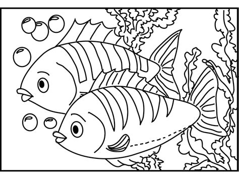 fish color pages the big and little fish gianfreda net