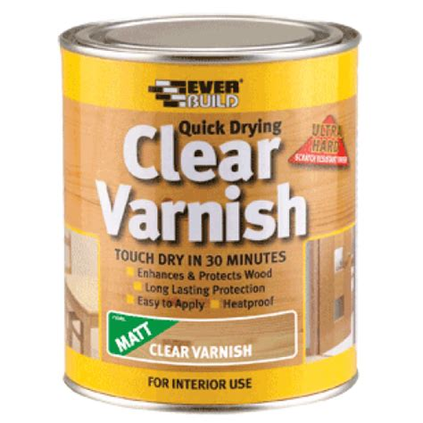 Mat Varnish by Everbuild Wvarclm02 Clear Varnish Matt 250ml Box Qty 6 187 Product