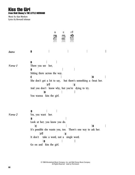 strum pattern to brown eyed girl tablature guitare kiss the girl de colbie caillat
