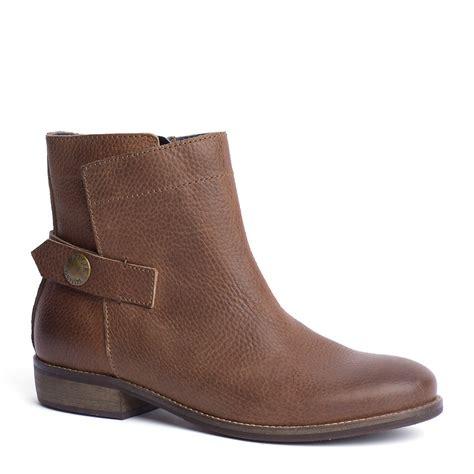 hilfiger eline ankle boots in brown winter cognac