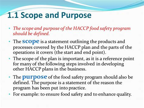 haccp d馭inition cuisine developing a food safety plan ppt