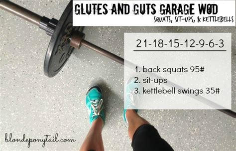 kettlebell swings everyday glutes guts workout blonde ponytail