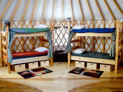 Maine Bunk Beds Maine Forest Yurts Visit Mainevisit Maine