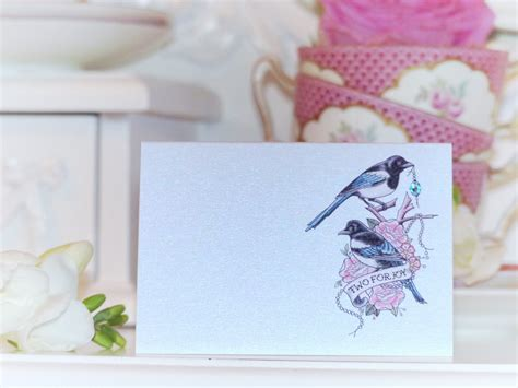 Handmade Place Cards - handmade place cards two for magpie