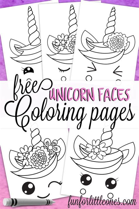 unicorn faces coloring pages  kids coloring pages