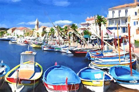 Peintre Sanary Sur Mer by Tableau Peinture Dessin Sanary Sur Mer Le Port Une
