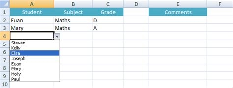 Microsoft Excel Tutorials Drop Down Lists Excel Template With Drop List