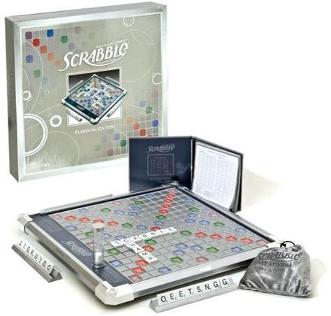 Scrabble Platinum Edition Board With Rotating Board