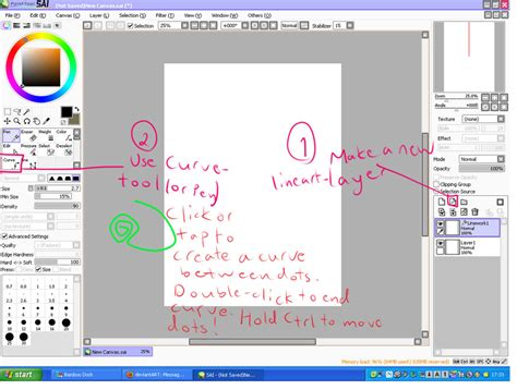 paint tool sai no curve tool how to use curve tool in sai by holycowworshipper on