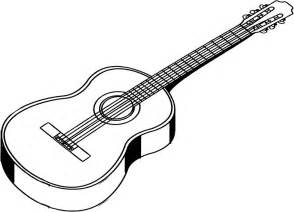 Acoustic Guitar Outline Drawing by Guitar Line Drawing Clipart Best