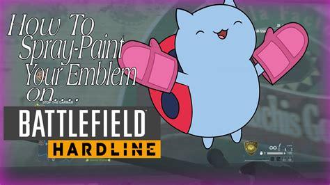 spray paint in battlefield hardline how to spray paint your emblem on battlefield hardline