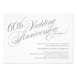 60th wedding anniversary invitations 5 quot x 7 quot invitation card zazzle