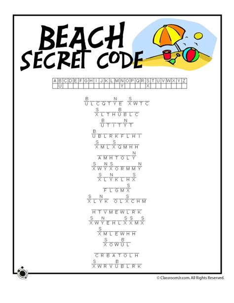 printable word code games 60 best images about summer worksheets on pinterest