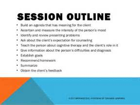 Session Outline Template by Cognitive Behavior Therapy