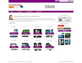 template blog toko online rupiah download template blogspot toko online dengan keranjang