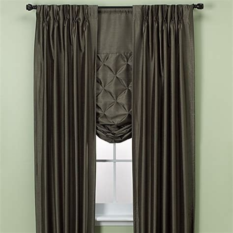 paris curtains bed bath beyond paris pinch pleated drapes and tie up shades bed bath