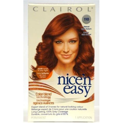 clairol nice n easy hair color 110 natural light auburn 5 clairol nice n easy color 110 natural light auburn